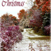 Merry Christmas Colours And Snow Art Print