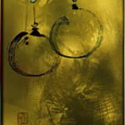 Merry Christmas Greetings In Soft Yellow Art Print
