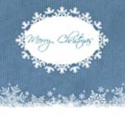 Merry Christmas In Blue Art Print