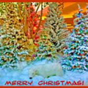 Merry Christmas Polar Bears Art Print