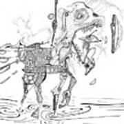 Merry-go-round Horse Art Print