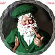 Merry Irish Santa Art Print