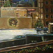 Merry Rooftops Art Print