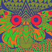 Mesmerizing Owl Art Print