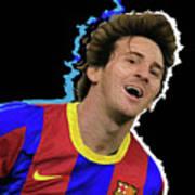 Messi 3498 By Nicholas Nixo Efthimiou Art Print