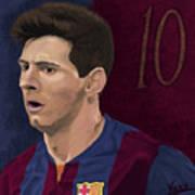 Messi-digital Oil Painting  Art Print