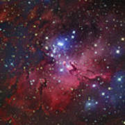 Messier 16, The Eagle Nebula In Serpens Art Print