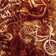 Messy Bike Workshop Art Print