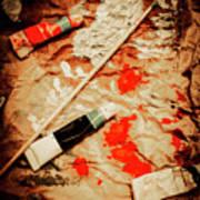 Messy Painters Palette Art Print