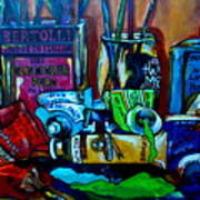 Messy Paints Art Print