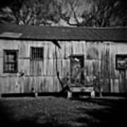 Metal Building On The Grounds At Fort Delaware Near Delaware City Art Print