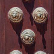 Metal Door Ornaments Art Print