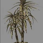 Metal Plant In Pot 13 Art Print