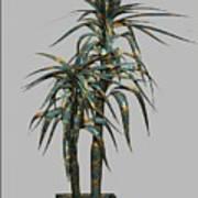 Metal Plant In Pot 4 Art Print