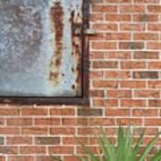 Metal, Rust And Brick Art Print
