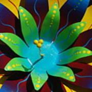 Metallic Flora Art Print