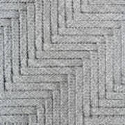 Metallic Grey Rope Weaved Pattern Art Print