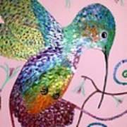 Metallic Hummingbird  Art Print