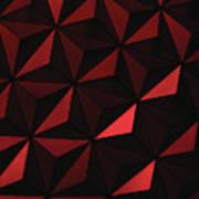 Metallic Pinwheels Art Print