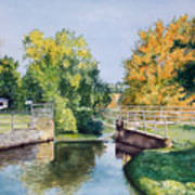 Metamora Canal Art Print