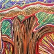 Metamorphosis Of The Great Tree Into Petrified Wood Art Print