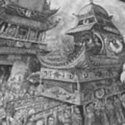 Metamorphosis Stage 2 Of 4 Praise Lord Worm Art Print