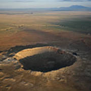 Meteor Crater Is The Best Preserved Art Print by Stephen Alvarez