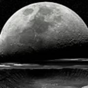 Meteor Crater Moon Art Print