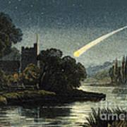 Meteor In Night Sky, 1868 Art Print