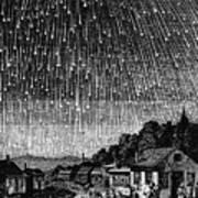 Meteor Shower, 1833 Print by Granger
