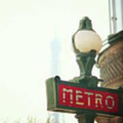 Metro Sing Paris Art Print by Gabriela D Costa