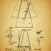 Metronome Patent Art Print