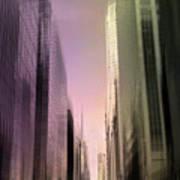 Metropolis Sunset Art Print