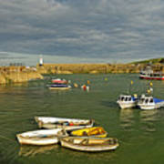 Mevagissey Outer Harbour Art Print