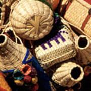 Mexican Baskets Art Print