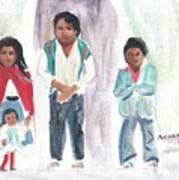 Mexican Church People Art Print