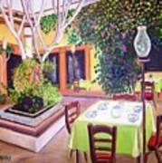 Mexican Garden Restaurant Art Print