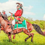 Mexican Horse Soldiers Art Print