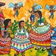 Mexican Women Art Print