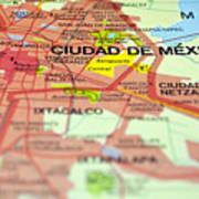 Mexico City Map. Art Print