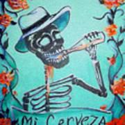 Mi Cerveza Art Print by Heather Calderon