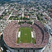 Miami Aerial Of Orange Bowl Stadium Art Print