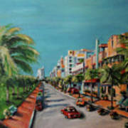 Miami For Daisy Art Print by Dyanne Parker