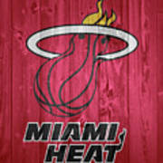 Miami Heat Barn Door Art Print