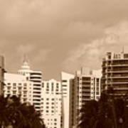 Miami  Sepia Sky Art Print