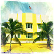Miami South Beach Ocean Drive 2 Art Print