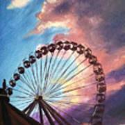 Mia's Ferris Wheel Art Print