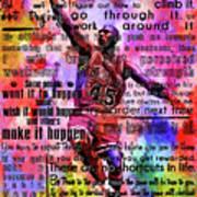 Michael Air Jordan Motivational Inspirational Independent Quotes 3 Art Print