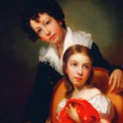 Michael Angelo And Emma Clara Peale Art Print
