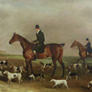 Michael Beverley With His Whipper In And Harriers Art Print